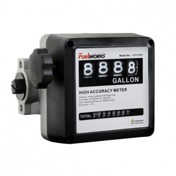 Fuel transfer flow meter